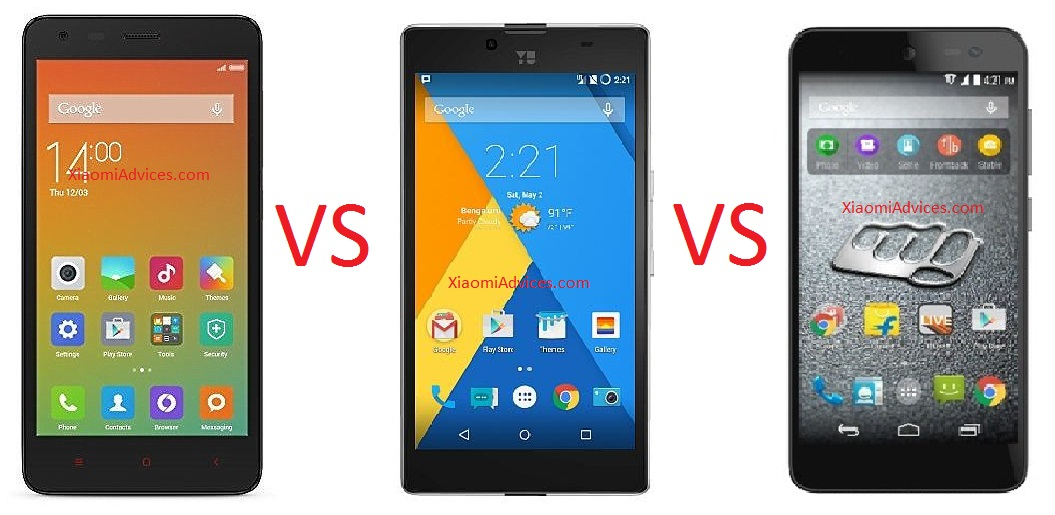 Redmi 2 Prime Vs YU Yuphoria Vs Micromax Canvas Express 2