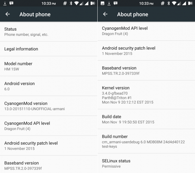Xiaomi Redmi 1S Android 6.0 Marshmallow update