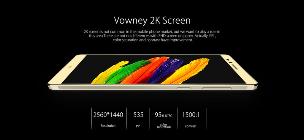 Elephone Vowney 2k display