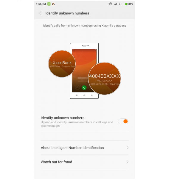 identify unknown callers miui 7