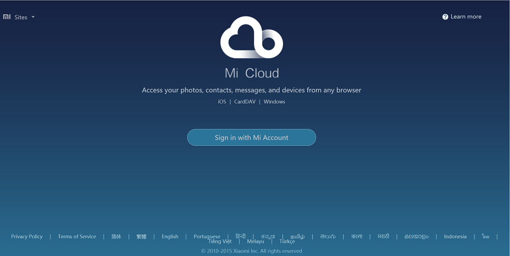 mi cloud login details 1