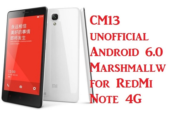 How to Update Redmi Note 4G to Android 6 0 Marshmallow