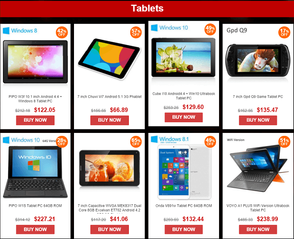 Gearbest tablet deals china new year