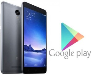 Xiaomi Redmi Note 3 Google Play Store