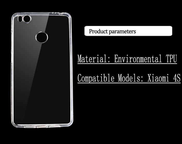 TPU back case for Xiaomi Mi4S