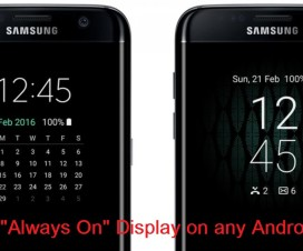 Samsung Galaxy S7 Always On display