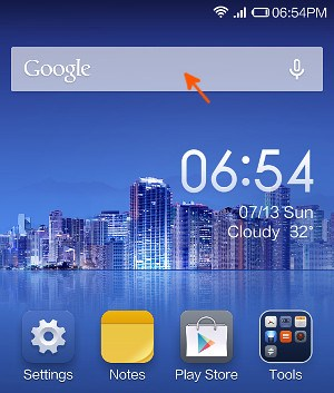 MIUI 7 Google Search bar on home screen