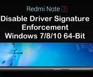 disable Driver Signature Enforcement Windows 7/8/10