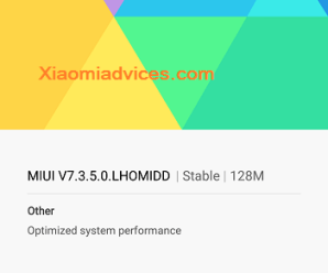 Redmi Note 3 MIUI 7.3.5.0