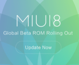 MIUI 8 Global Beta ROM update