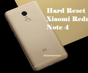 xiaomi redmi note 4 hard reset