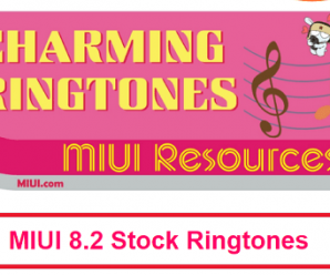 miui 8.2 stock ringtones