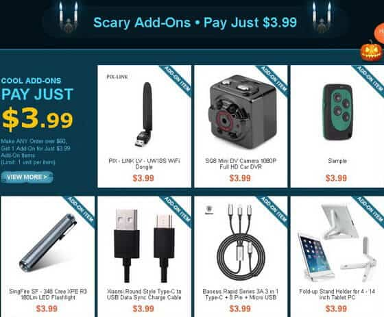 GearBest Halloween Party sale3