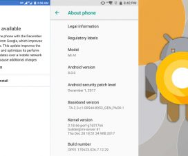Xiaomi Mi A1 Android 8.0 Oreo update install