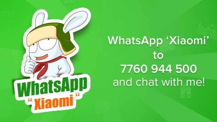 xiaomi mi bunny india whatsapp service