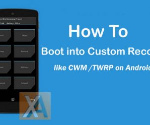 Boot into custom recovery TWRP CWM on Android