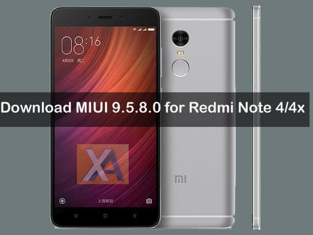 Redmi Note 4 MIUI 9.5.8.0 Update Download