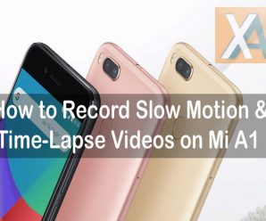 Xiaomi Mi A1 slow motion videos recording