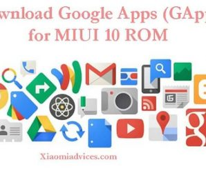 MIUI 10 GApps Download play store