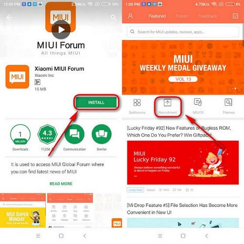 MIUI 10 beta update apply