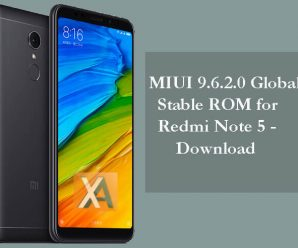 MIUI 9.6.2.0 Global ROM Redmi Note 5