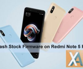 Redmi Note 5 pro flash stock firmware