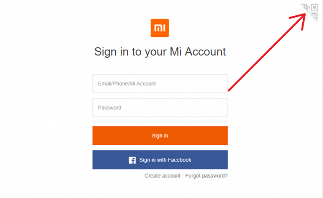 Sign in to Mi Account without passowrd 3