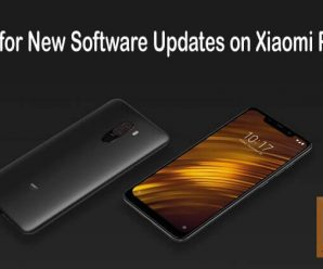 Check software update on Xiaomi Poco F1