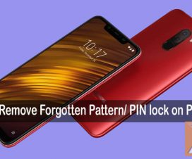Remove forgotten pattern pin lock Poco F1