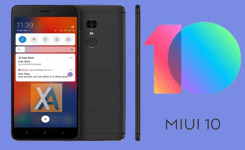 Redmi Note 4 4x MIUI 10 Update